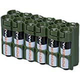 Storacell Powerpax AA Battery Caddy, Military Green, 12-Pack