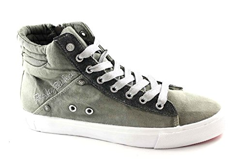 REPLAY RV730011T ALAME grey scarpe donna sneakers mid zil laterale 38
