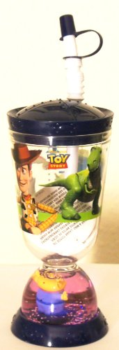 Disney Pixar Toy Story Straw Water Drink Bottle / Cup (9 Oz)