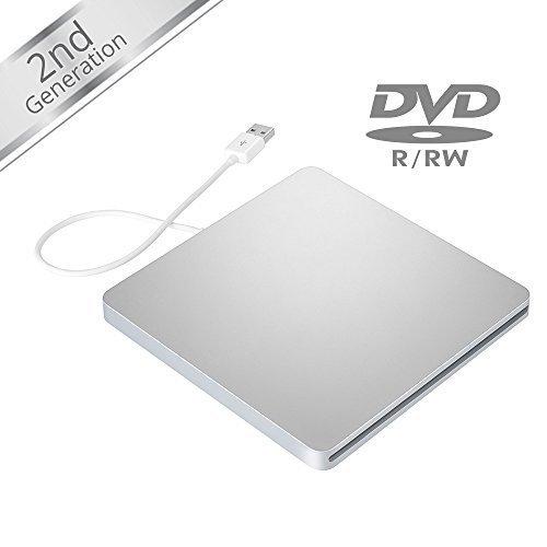 VicTop® Unidad de disco / Grabador de DVD VCD CD RW con USB Ranura Externa para Apple Macbook Pro Air iMAC