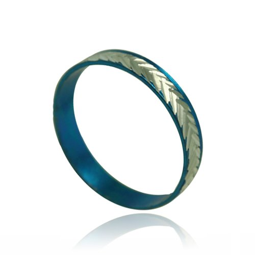 Blue Diamond-Cut Kids/Teen Ring - size 6.5