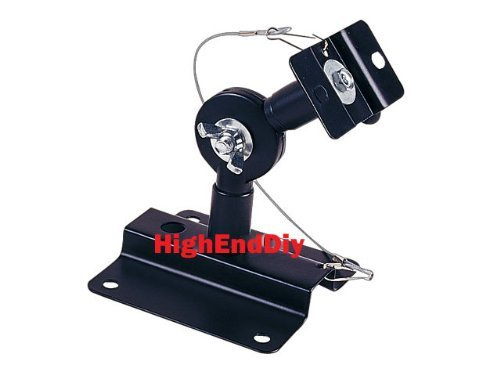 Heavy Duty Metal Speaker Mount/Bracket - 33Lb Capacity - Wall/Ceiling Mounting Brackets Pair Set Of 2 - Black