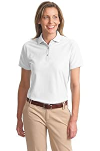 Port Authority Women's Classic Polo Sports Shirt, white, Large