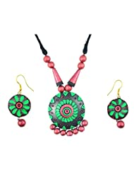 "ARTWOOD ""Enchanted Clay Princess"" 3-piece TerraCotta Jewellery Set"