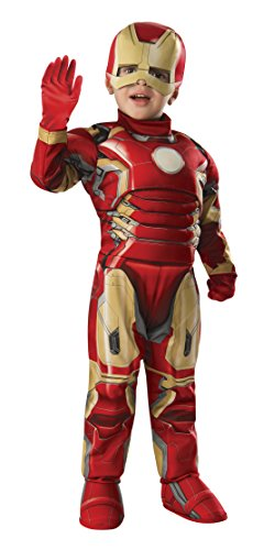 Toddler Iron Man Muscle Costume w/Gloves