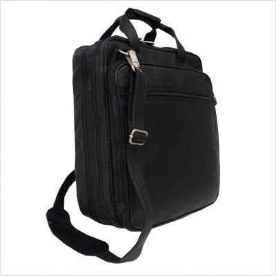 Small Laptop Backpack on Wheels Color: Black