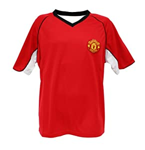 Manchester United Soccer Men's Home Polyshirt, Red, Small