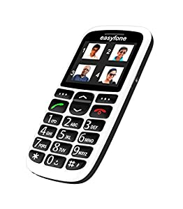 Easyfone - India's most senior citizen friendly phone (White)
