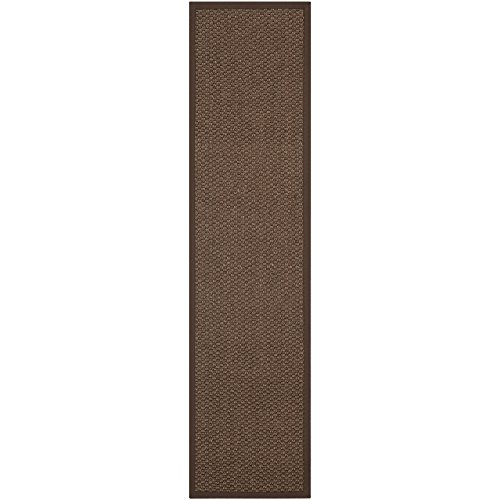 Safavieh Natural Fiber Collection NF525D Chocolate Sisal Runner, 2 feet by 8 feet (2' x 8')