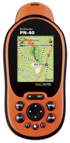 DeLorme Earthmate PN-40 Handheld GPS (1:100k Topographic, Detailed Street Maps & POIs Included)