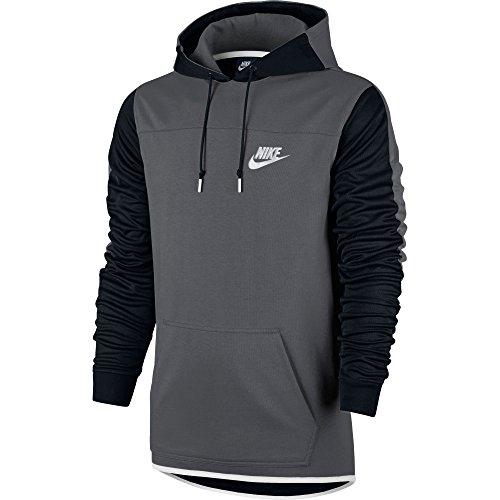 Nike Men's Sportswear Advance 15 Pullover Hoodie Dark Grey/Black/White X-Large