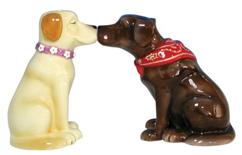 Labrador Retriever Collectibles - Westland Giftware Mwah Magnetic Labrador Retrievers Salt and Pepper Shaker Set, 3-1/4-Inch