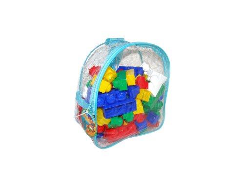 Trampoliere Builder Junior Edilizia giocattolo del mattone Situato in Zaino (100 Pezzi)