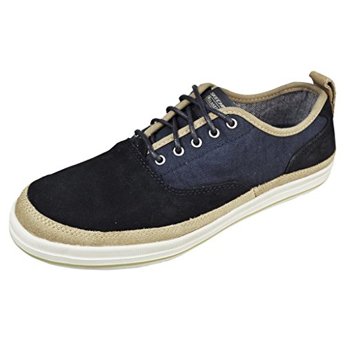 skechers s relaxed fit define gilbey navy suede