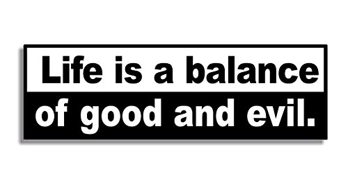 life-is-a-balance-of-good-and-evil-car-bumper-sticker-maison-voiture-autocollant-bedroom-door-sign-d