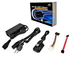 Vantec CB-ISATAU2 SATA/IDE to USB 2.0 Adapter Supports 2.5-Inch, 3.5-Inch, 5.25-Inch Hard Disk Drives (Black)