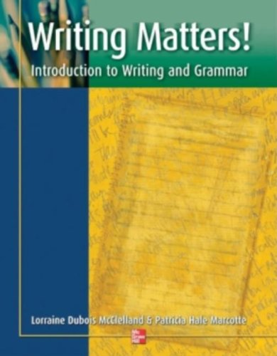 Writing Matters! - Student Book: Introduction to Writing...