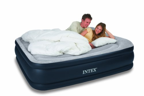 Intex Queen Deluxe Pillow Rest Raised Airbed Kit
