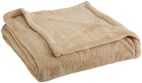 Woven Workz Oh So Soft Queen Blanket , Camel
