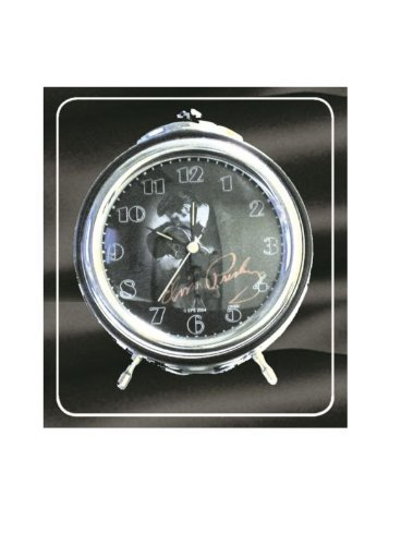 Elvis Presley Retro Bedside Black Alarm Clock Gift Box O