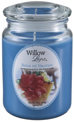 Candle-lite Willow Lane 19oz Jar with Soy Wax - Relax on Vacation