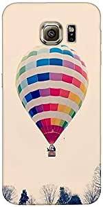 Snoogg Hot Air Ballooning Case Cover For Samsung Galaxy S Iiiiii Edge / S6 Edge