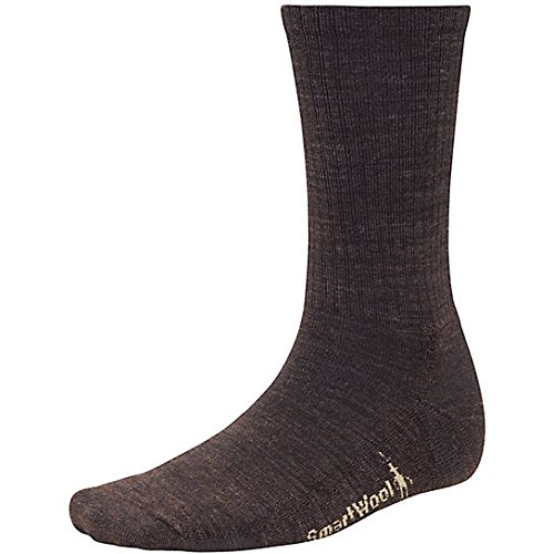 Smartwool Heathered Rib Sock - Men's Chestnut / Black Large