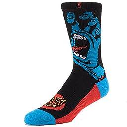 Stance Mens Screaming Hand Socks, Black, Small/Medium