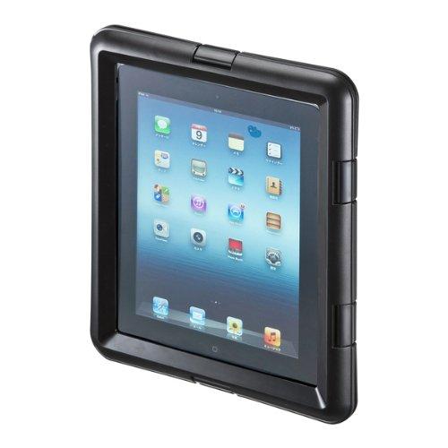 サンワサプライ iPad/iPad2 防水ハードケース ブラック PDA-IPAD313BK