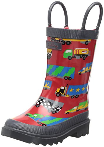 Hatley Little Boys' Rainboots Big Rig Trucks, Red, 6 front-777060
