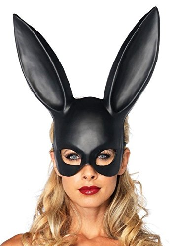 MASQUERADE Frank Rabbit Black Dark Mask Halloween Costume Party Accessory