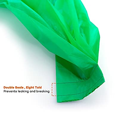 TaoTronics Dog Poop Bags Vegetable-based Dog Waste Bags 165 Counts, Double Seals, Leak-proof, Earth Friendly (Green), free Dispenser