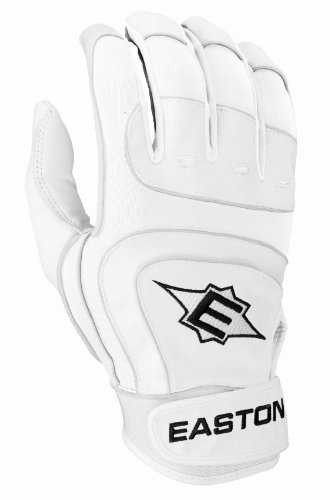 Easton Sv12 Pro Youth Batting Gloves, White, Large (Slow Pitch Batting Gloves compare prices)