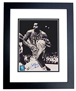 Bob Love Autographed Hand Signed Chicago Bulls 8x10 Photo - BLACK CUSTOM FRAME by Real Deal Memorabilia