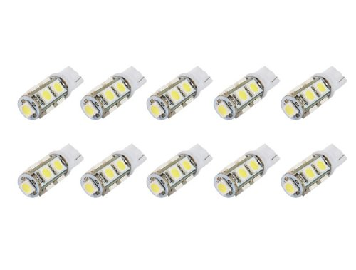 10Pcs T10 194 168 W5W 9 5050 Smd Led Car Light Bulb Lamp White Wedge