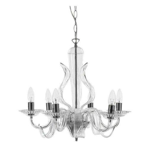 Tomasucci Whiff lampadario a 6 luci in acrilico trasparente