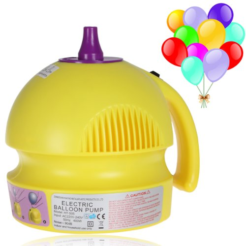 Origlam® Yellow Electric 400W Balloon Inflator Household Electric Balloon Pump Single Nozzle Balloon Inflator Pump