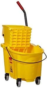 Rubbermaid 748018YW Wavebrake 26-Quart Side Press Mop Bucket & Wringer Combo, Yellow