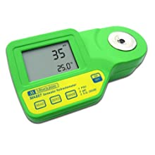 Milwaukee MA887 Digital Salinity Refractometer with Automatic Temperature Compensation, Yellow LED, 0 to 50 PSU, +/-2 PSU Accuracy, 1 PSU Resolution