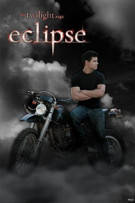 Twilight Eclipse Movie (Jacob, Motorcycle) Poster Print - 24x36