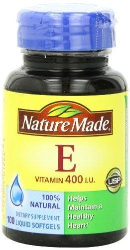 Nature Made Natural Vitamin E 400Iu, 100 Softgels (Pack Of 3)