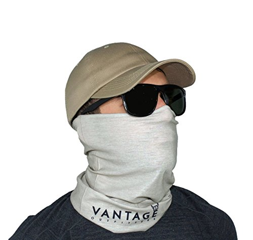 Sun UV Fishing Face Mask Bandana Neck Gaiter Buff Wind Protection- SPF 30- Vantage Outfitters (Gray) (Sun Protection Fishing compare prices)