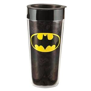 Vandor 76051 Batman Plastic Travel Mug, Black, 16-Ounce