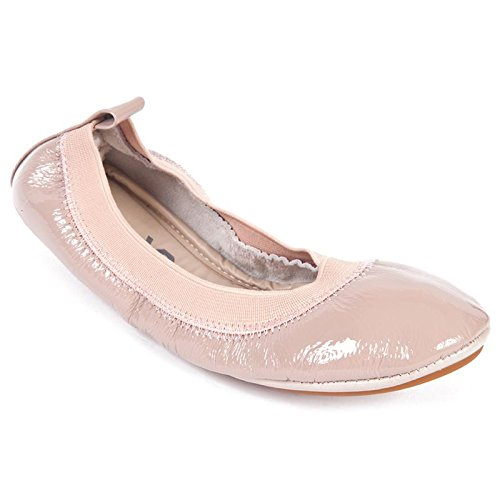 Yosi Samra Toddler/Little Kid/Big Kid Blush Patent Leather Ballet Flat Shoes - 13 M Us Little Kid front-446615
