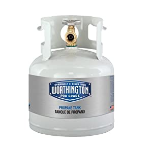 Amazon.com : Worthington 281149 1-Gallon Steel Propane Cylinder With