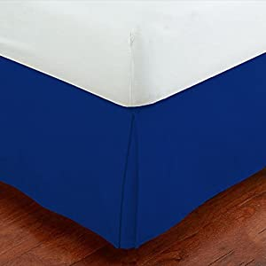 mk collection solid pleated bed skirt royal