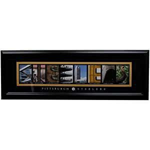 NFL Pittsburgh Steelers 8'' x 24'' Framed Letter Art