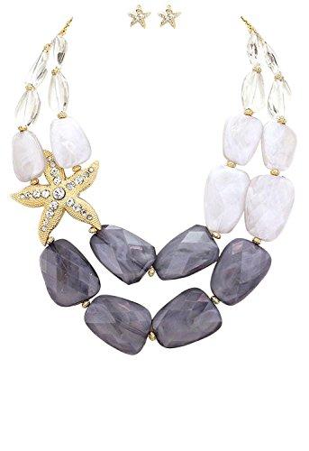 rosemarie-colecciones-de-la-mujer-ombre-gris-pulido-resina-collar-pendientes-set-estrella-de-mar