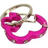 Rubit The Easy Dog Tag Rhinestone Heart Switch Clip, Small, 0.85-Inch Diameter, Pink