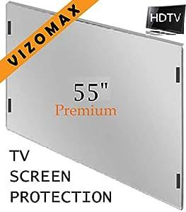 """55"""" Vizomax protecteur d'écran pour télévision TV LCD, LED, Plasma HDTV Screen Protector Cover Guard Shield"""